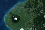 Satellite Image of Mount Egmont  New-Zealand