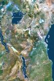 Tanzania  True Colour Satellite Image with Border