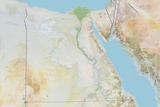 Egypt  Relief Map with Border