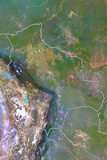 Bolivia  Satellite Image with Bump Effect  with Border
