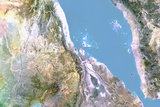 Eritrea  Satellite Image with Bump Effect  with Border