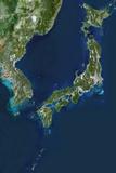 Satellite Image of Korea and Japan