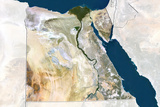 Egypt  True Colour Satellite Image with Border and Mask