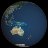Satellite Image of Oceania