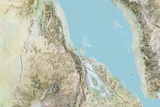 Eritrea  Relief Map with Border