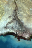 Satellite Image of Ural Delta  Kazakhstan
