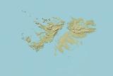 Falkland Islands  Relief Map