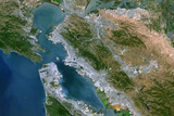 Satellite Image of San Francisco Bay  USA