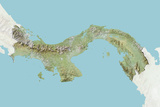 Panama  Relief Map with Border and Mask