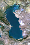 Satellite Image of Caspian Sea