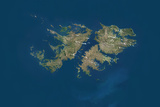 Falkland Islands  True Colour Satellite Image
