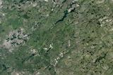 Satellite Image of Carswell Meteor Impact Crater  Saskatchewan  Canada