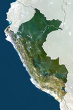 Peru  True Colour Satellite Image with Border and Mask