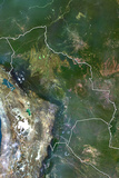 Bolivia  True Colour Satellite Image with Border