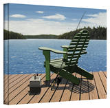Ken Kirsch 'Fishing Chair' Wrapped Canvas