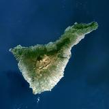 Satellite Image of Teide Volcano  Canary Islands  Spain