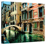 George Zucconi 'Venice Canal ' Wrapped Canvas