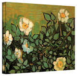 Vincent van Gogh 'Wild Roses' Wrapped Canvas