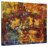 Claude Monet 'Japanese Footbridge' Gallery Wrapped Canvas