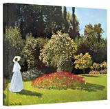 Claude Monet 'Woman in Park with Poppies' Gallery Wrapped Canvas