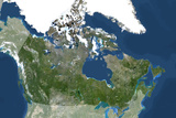 Satellite Image of Canada