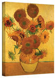 Vincent van Gogh 'Vase with Fifteen Sunflowers' Wrapped Canvas Art
