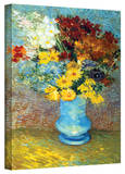 Vincent van Gogh 'Flowers in Blue Vase' Wrapped Canvas Art