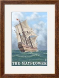 Plymouth  Massachusetts - View of the Mayflower