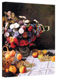 Claude Monet 'Flowers and Fruit' Wrapped Canvas Art