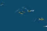 Satellite Image of Azores Islands  Portugalraciosa  Terceira  Sao Miguel and Santa Maria
