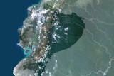 Satellite Image of Ecuador