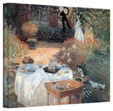 Claude Monet 'Garden Picnic' Gallery Wrapped Canvas