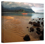 Kathy Yates 'Hanalei Bay at Dawn' Canvas Art