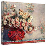 Claude Monet 'Red Vase' Wrapped Canvas Art