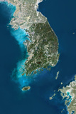Satellite Image of South Korea
