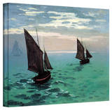 Claude Monet 'Two Sailboats' Gallery Wrapped Canvas