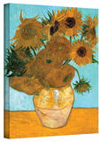 Vincent van Gogh 'Vase with Twelve Sunflowers' Wrapped Canvas Art
