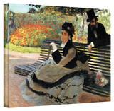 Claude Monet 'Park Bench' Wrapped Canvas Art