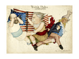 Cartoon Map Depicting the US Presidential Election Of 1880 the Outline Is Of the United States