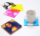 CMYK Color Print Mona Lisa Coaster Set