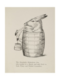 Ass in a Barrel From a Collection Of Poems and Songs Illustration
