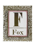 Letter F: Fox Gold Letter With Decorative Border