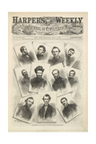 Portraits Of Various Union Generals  Including Sherman and Grant  Landing at Pittsburgh