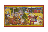 Bharata Leaves With Rama's Sandals
