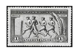 A Group Of Athletes Running  Greece 1906 Olympic Games  1 Drachma  Unused Stamp Design