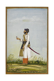 Portrait Of Maharav Raja Bakhtavar Singh Of Alwar (R1790-1815)