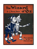 Illustrated Front Cover For the Novel 'The Wizard Of Oz' With the Scarecrow and the Tinman Giclée par William Denslow