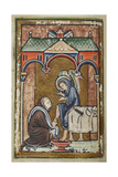 St Cuthbert Washes the Feet Of an Angel