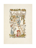 Title Page For the Golden Primer a Child Is On a Ladder  Picking Apples From a Tree