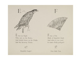Eagle and Fan Illustrations and Verses From Nonsense Alphabets Drawn and Written by Edward Lear